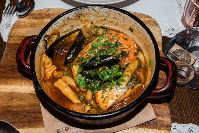 Split - Mazzgoon - seafood pasta