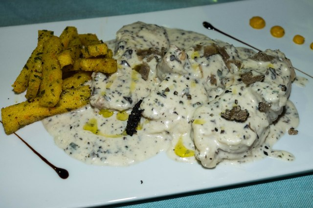 Split - Augubio Congo - monk fish in a creamy truffle sauce with