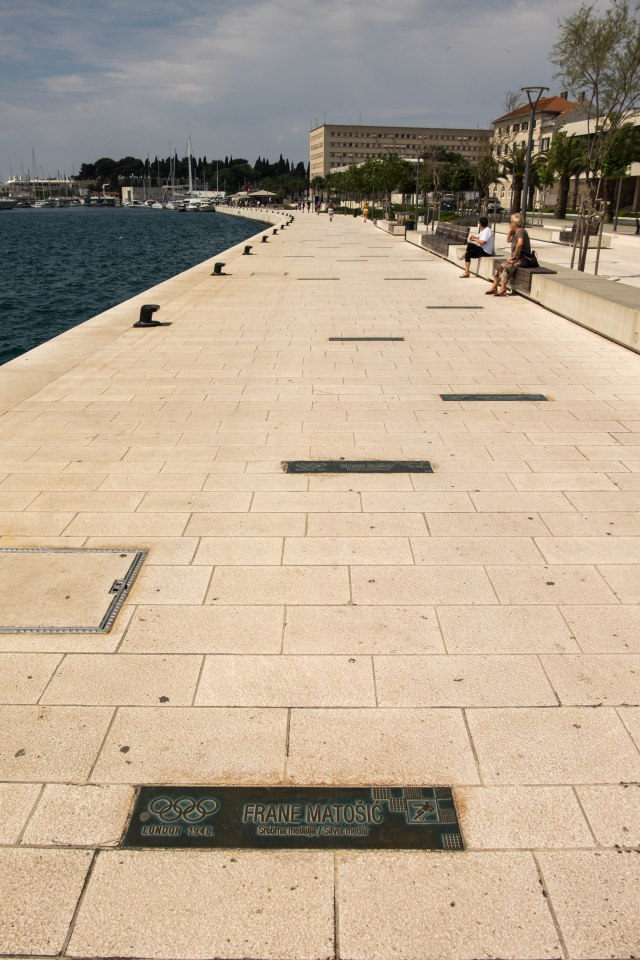 Split - walkway of Olympic champions