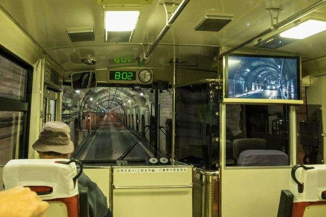 Trolley bus to Kurobe Dam
