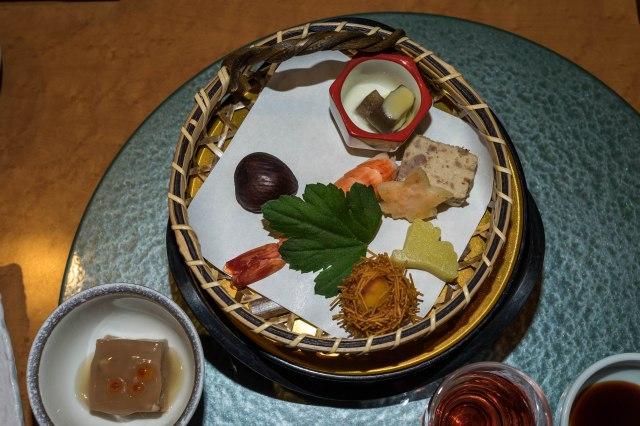 Hotel Keisui - kaiseki dinner - appetisers