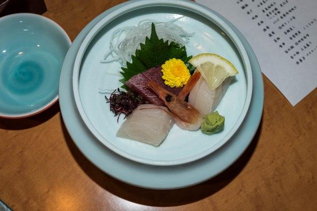 Hotel Keisui - kaiseki dinner - shashimi