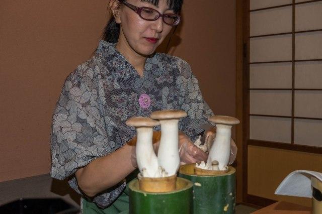 Hotel Keisui - kaiseki dinner - mushrooms