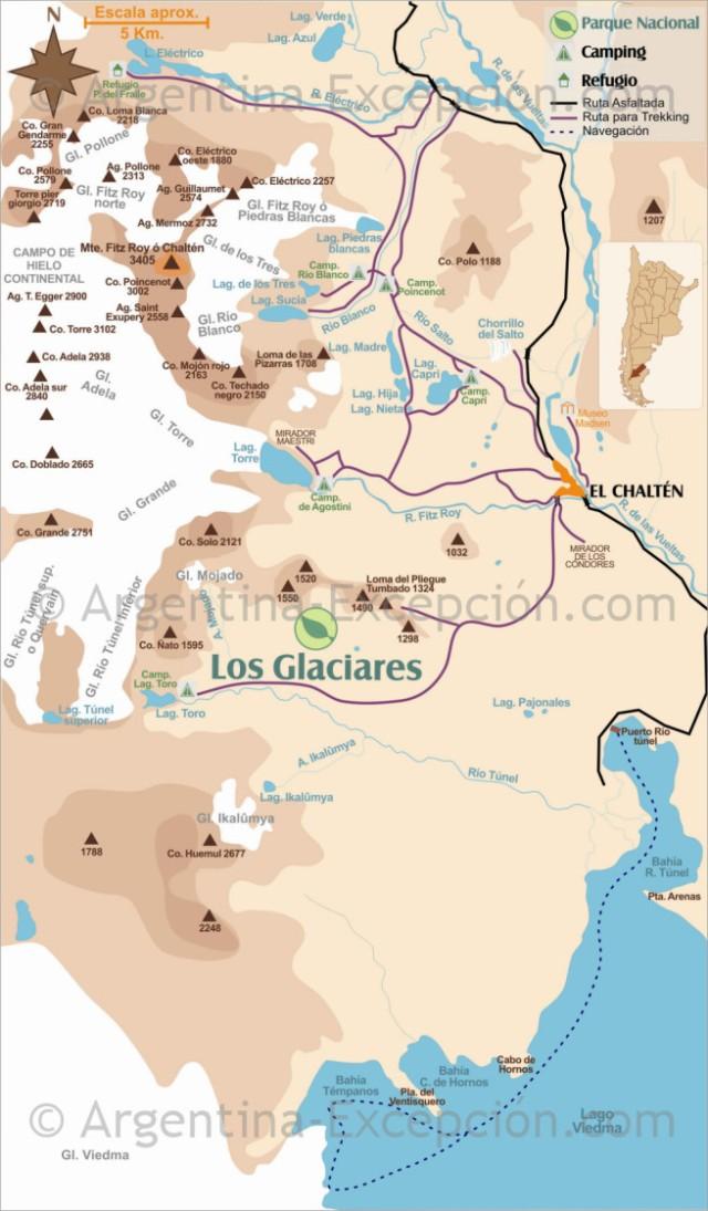 El Chalten Map