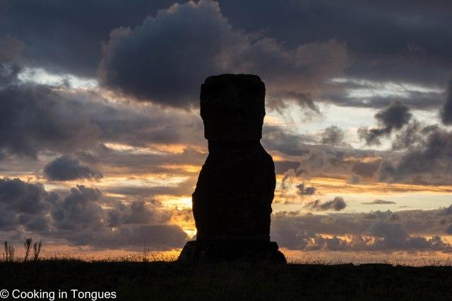 Hanga Kio'e - sunset